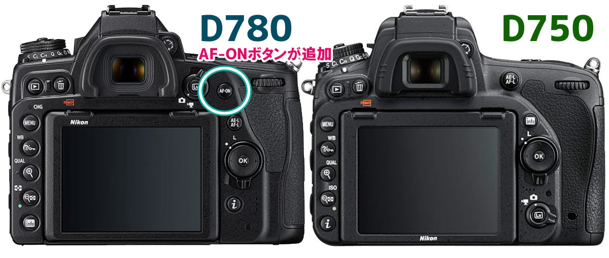Nikon D780とD750の違い