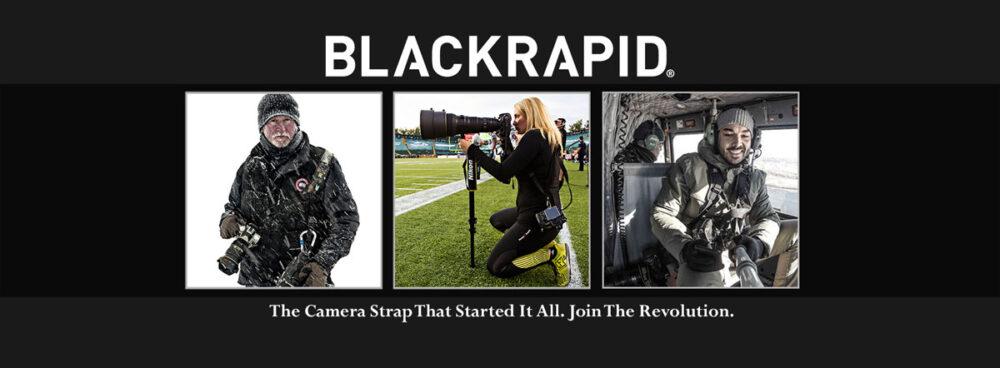 BLACKRAPIDのカメラストラップ
