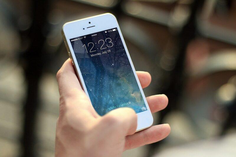 iPhoneのディスプレイ