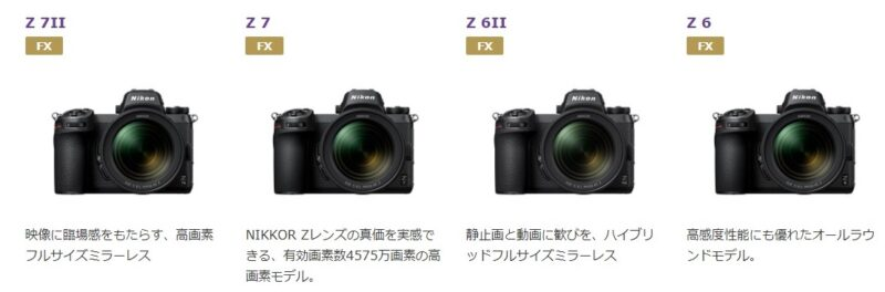 Nikonのミラーレスの画像